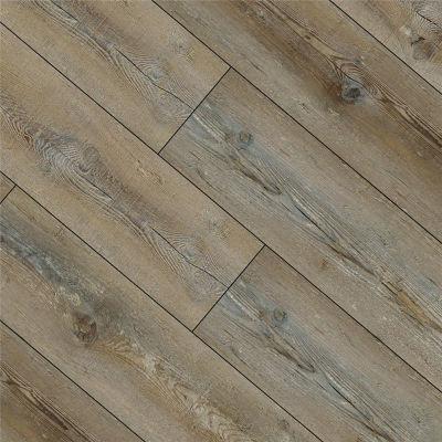 Hanflor 7''x48'' 4.0mm Brown Oak SPC Flooring Vinyl Plank HDF 9129