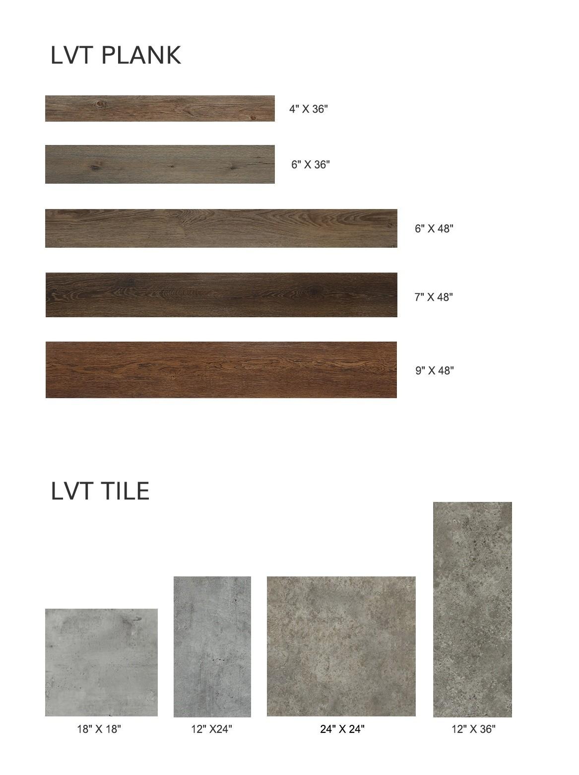LVT Flooring Size