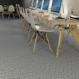 "Hanflor 12""X24""4.0mm Low Maintenance Carpet Look Vinyl Tile HTS 8054"