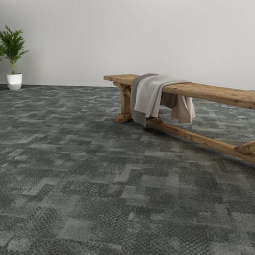 Hanflor 18''*18'' 2.0mm Easy Install Carpet Look LVT Vinyl Tile HTS 8048