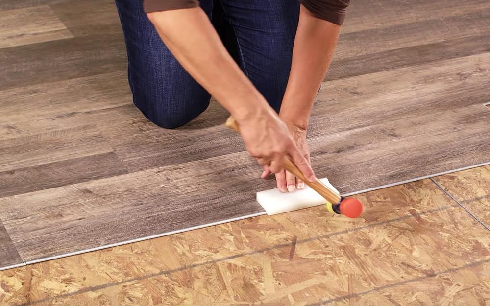 install vinyl flooring over tile