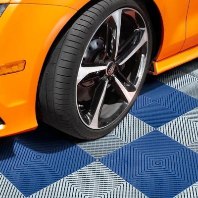 "Hanflor 15.75"" x 15.75""Heavy Duty Interlocking Polypropylene Durable Commercially Rated Garage Tiles"
