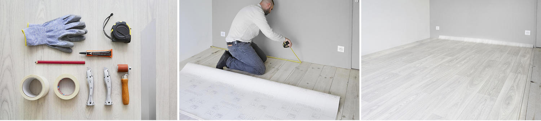 how to lay vinyl sheet