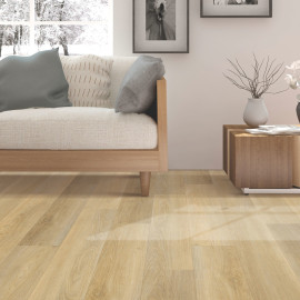 Hanflor 9''x48'' 4.0mm Beige Oak luxury Click Vinyl Plank Flooring Wholesale Waterproof PVC Flooring