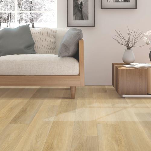 Hanflor 9''x48'' 4.0mm Beige Oak luxury Click Vinyl Plank Flooring Wholesale Waterproof PVC Flooring