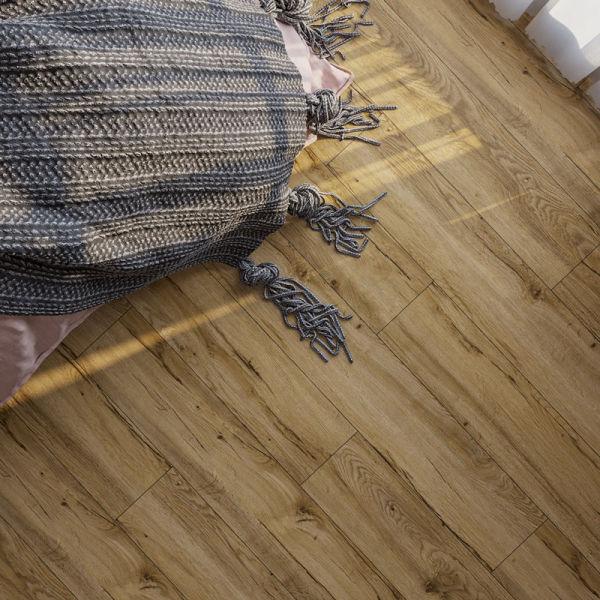 Hanflor Beige SPC Flooring Wood Look Vinyl Plank 7.2''x48'' 4.0mm/0.3mm 1.5mm IXPE   HIF 20461
