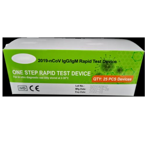2019-nCoV lgG/lgM Rapid One Step Rapid Test Device COVID-19 Rapid Test Kits