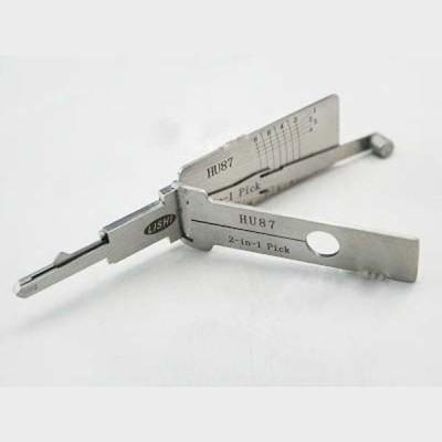 100% original LISHI 2 in 1 Auto Pick and Decoder HU87 FOR Suzuki Cylinder Lock Plug Reader lishi lock pick tools