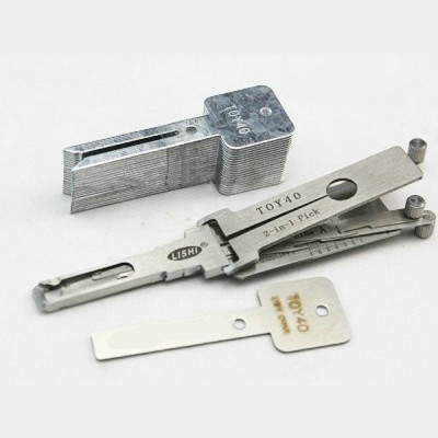 100% original LISHI 2 in 1 Auto Pick and Decoder TOY40 FOR Korea Toyota/ Lexus Lock Plug Reader lishi lock pick tools