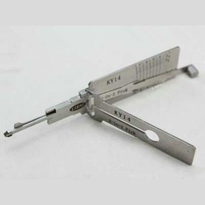 100% original LISHI 2 in 1 Auto Pick and Decoder KY14 Korean cars Cylinder Lock Plug Reader lishi lock pick tools