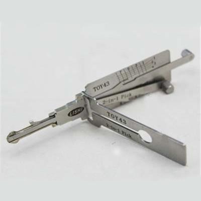 100% original LISHI 2 in 1 Auto Pick and Decoder toy43 Eight teeth Toyota  Lock Plug Reader lishi lock pick tools