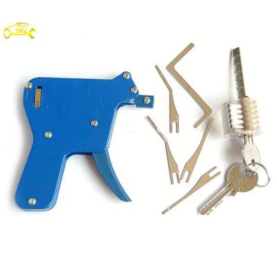 Blue snap pick guns + transparent cross locks practice lock set professional locksmith supplies lock pick