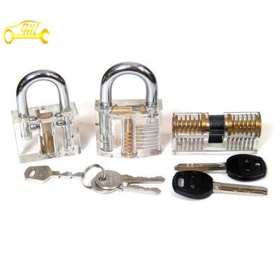 blade + transparent +AB kaba practice lock set professional locksmith supplies ,locksmith tools lock picks for begineer skill pick