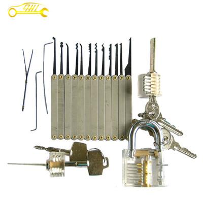 Transparent cutaways padlock cross lock S style locks dimple lock picks practice lock set for beginner skilling locksmith tools
