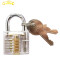Transparent Cutaway Clear Lock Picking Practice Padlock For Locksmith Training Skills