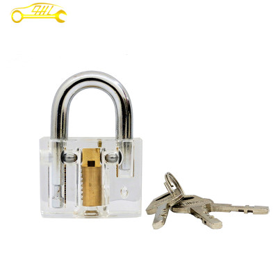 50mm Clear Cutaway View Disc Detainer Lockpicking Practice Padlock For Locksmith Sport/Game