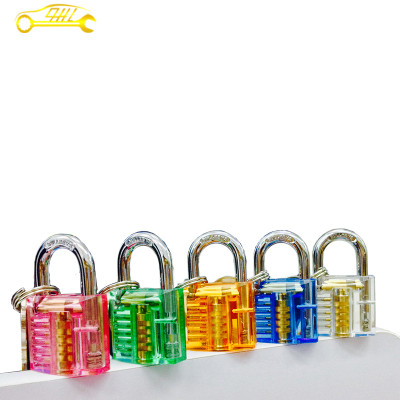 Mini colorful cutaway inside view practice lock with 2 keys profession locksmith supplies