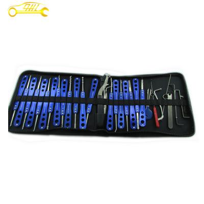 Universal 30pcs Stainless Steel Alloy locksmith tools Lock Picks Tools Set Dark Blue