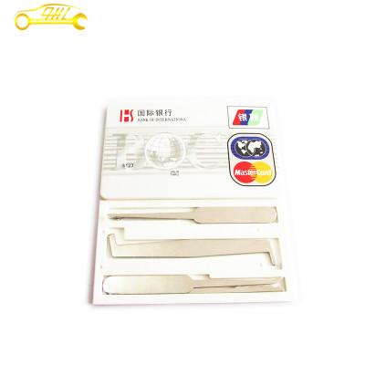 5 pcs silver Credit Card Lock Pick Sets Locksmith Tools free shipping Unlock Picks Lockpick Lock Picking Padlock