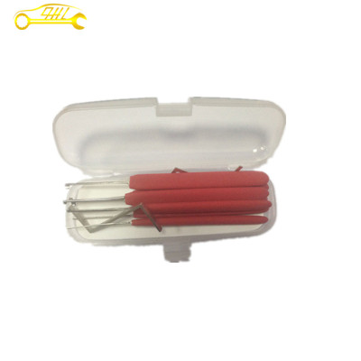 Red+silver 8+2 kaba hooks pick set ,dimple lock pick free shipping huk locksmith tools lock pick set