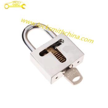 Cutaway Practice Disc Padlocks with 1 Key For Locksmith Equipment Tool