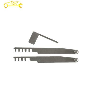 2+1 pieces silver lock pick set,house Lock Pick Tools,comb locksmith tools