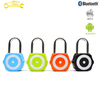 New Arrival Blue Manual And Automatic Bluetooth Smart Window Lock Luggage Lock Bicycle Lock Stainless Steel Padlock