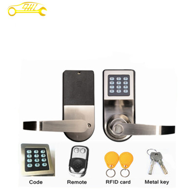 Electronic Induction Smart Digit Code Keypad Entry Door Lock With ID Reader Right Handle And Card Unlock