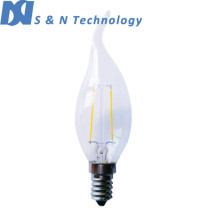 High brightness LED E14 2W Filament Bulb