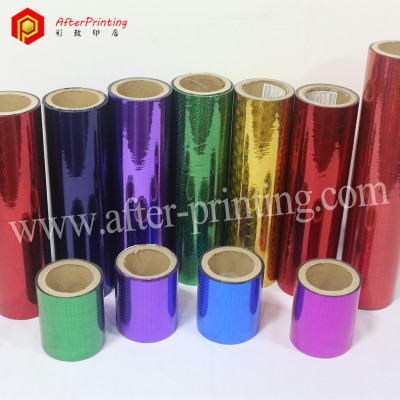 Colorful BOPP/PET Base Holographic Thermal Laminating Film
