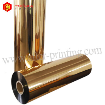 BOPP PET Gold Metallic Thermal Laminating Film