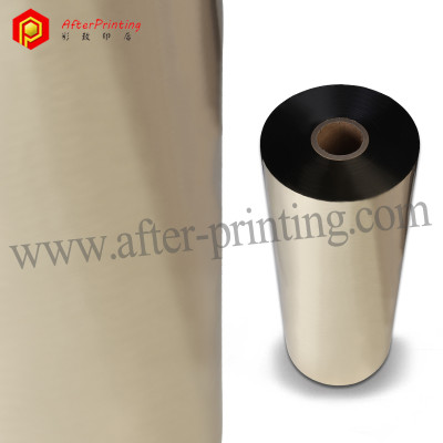24 μm PET Gold Silver Colours Metallic Plastic Lamination Film Roll