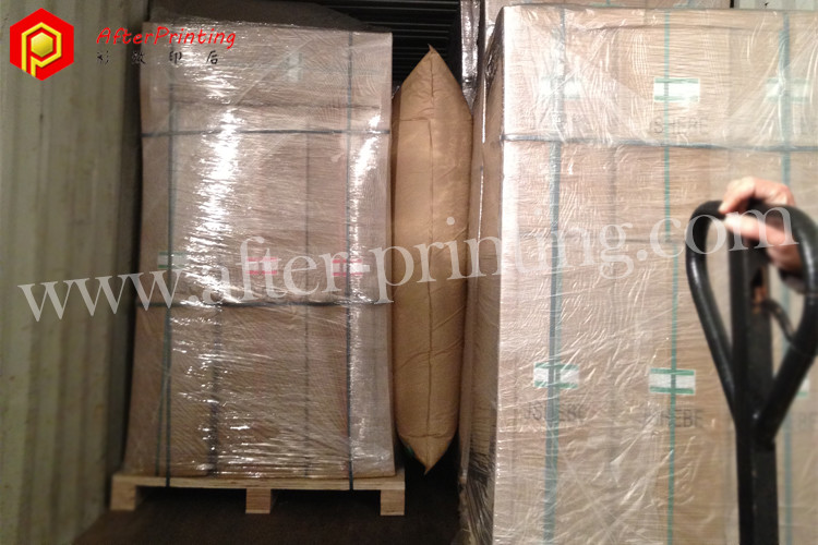 dunnage bag adopted when loading