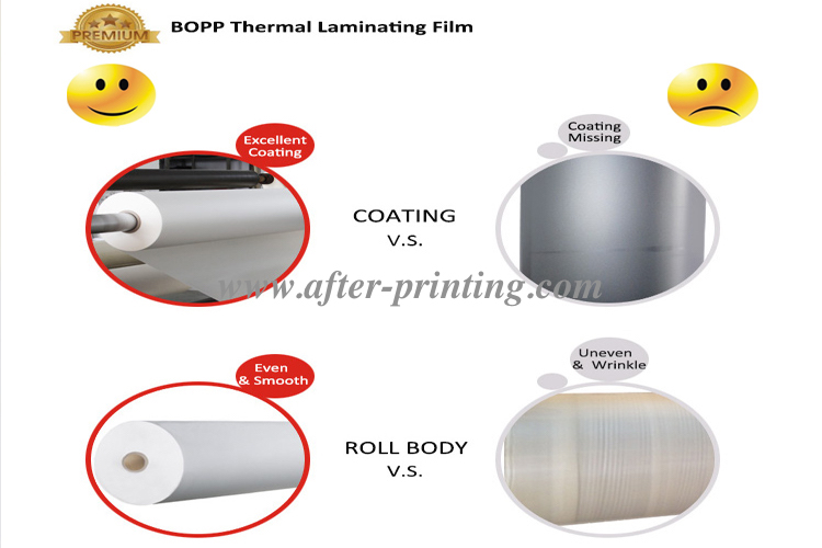 high good quality thermal laminating film roll