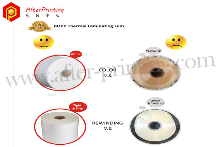 difference on the coating and roll body of plastic films