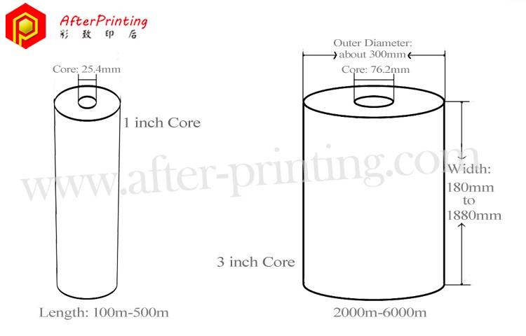 paper core of plastic film roll