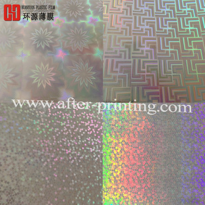 Patterns Over 150 Kinds Holographic Hot Laminated Film