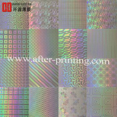 Transparent Plastic Film Holographic BOPP Film For Advertising