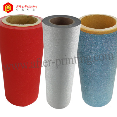 Sparkle Laminated Film Silver Blue Red Color Glitter Effect