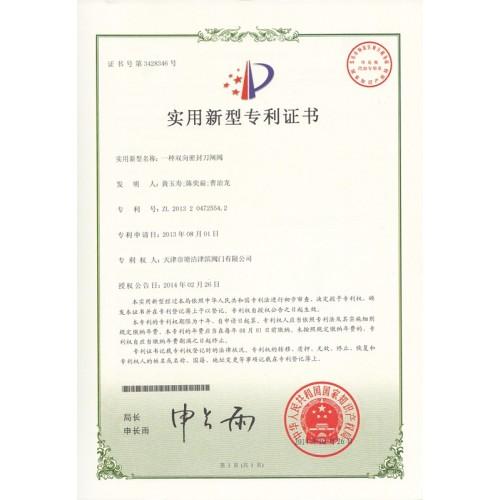 Utility Model Patent Certificate  12