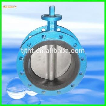 Голые стволовых поворотный затвор - двойной фланец клапан