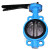 Wafer type cast iron center line butterfly valve