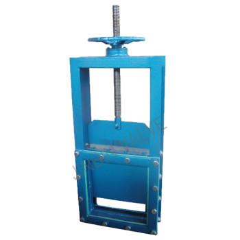 Slide damper gate valve