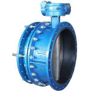 Expansion middle flanged butterfly valve