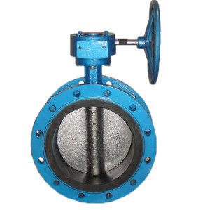 Manual resilient seat flanged butterfly valve