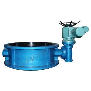 electric flanged Motorized butterfly valve
