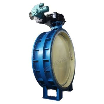Electric eccentric butterfly valve