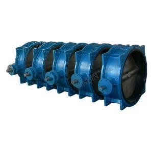 ductile iron butterfly valve-double flange valve