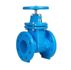 DIN3352 F4 NRS resilient seated iron gate valve for water