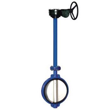 long stem cast iron butterfly valve